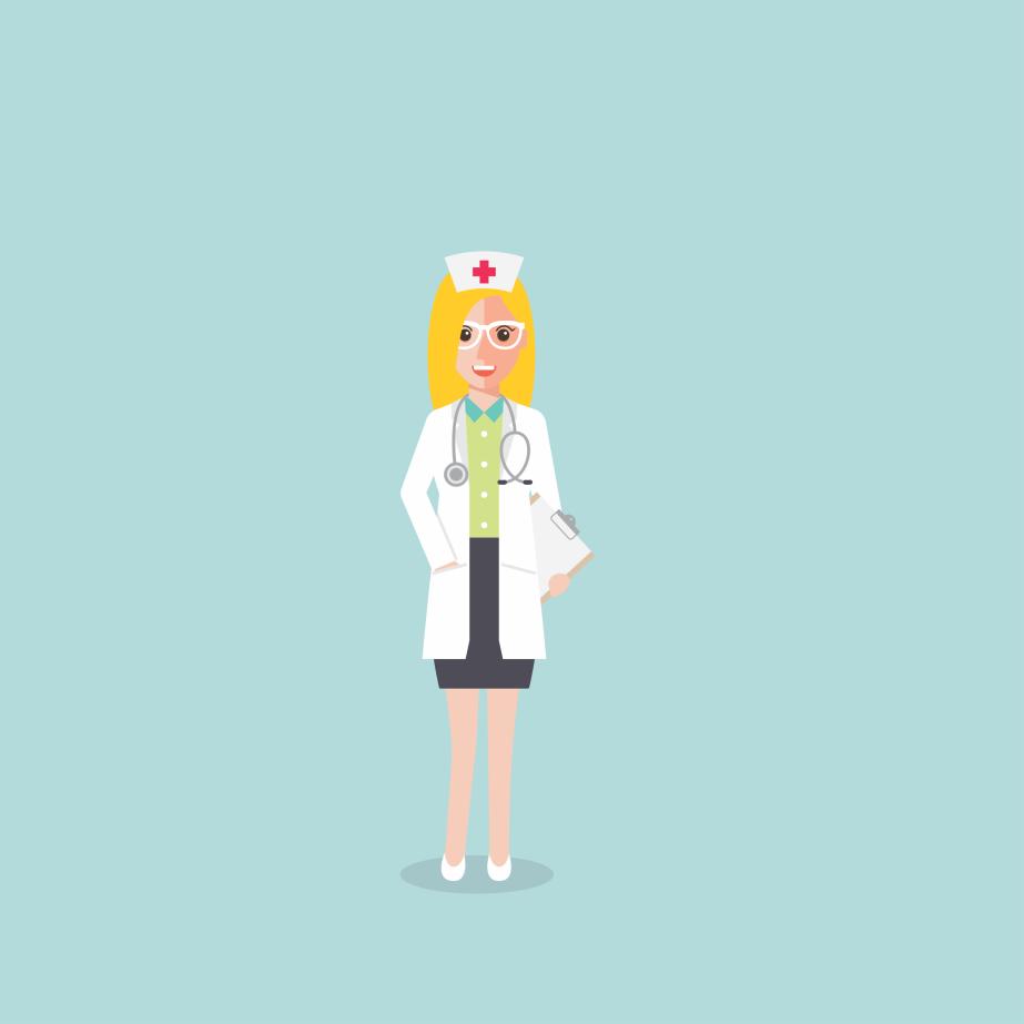 Arte para Topper de Bolo tema enfermeira Flavinha by NupapelDesigner